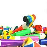 STUWU 24x Luftrüssel bunt Partypack Krachmacher Karneval Tröten Blasrüssel Mitgebsel Kindergeburtstag - 2