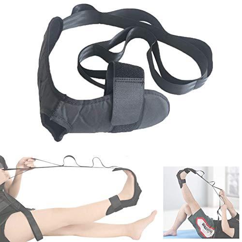 Vandove Fitness Yoga Gurte Ligament Stretching Belt Anti-Rutsch Knöchelgelenk Korrektur Klammern mit Schlaufen, für Physiotherapie Reha Pilates Tanz Gymnastik Schwarz