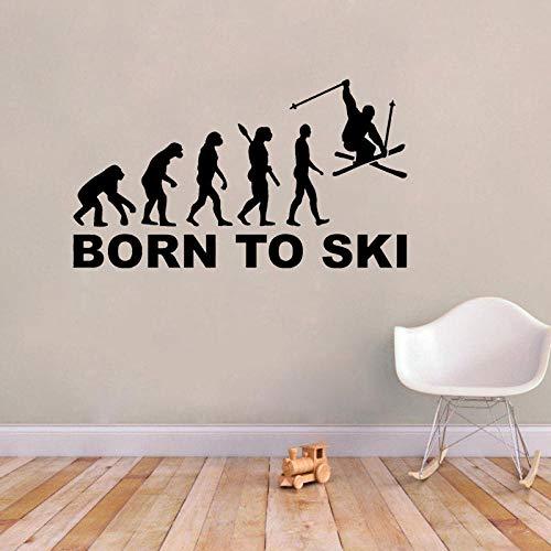 Sticker Wand78Cm * 44.2Cm Mode-Entwicklung Des Mann-Ski-Extremsport-Skifahrer-Aufklebers Pvc-Wand-Aufkleber