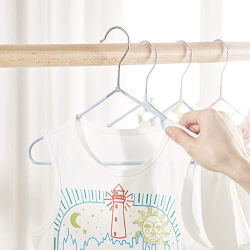 Barnhängare, Babyhängare (20 PS), Barnhängare med skåror, rymdbesparande klädhängare Ej glidande för skjortor, kappa, slacks lagring och display,Green