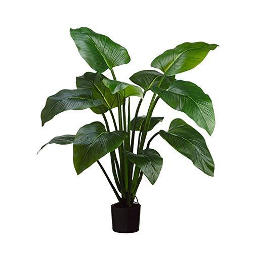 Bloem Kunstmatige Groene Dille Blad, Nep Bomen Plant Potplanten Met Zwarte Pot Decoratie Familie Winkel Buiten