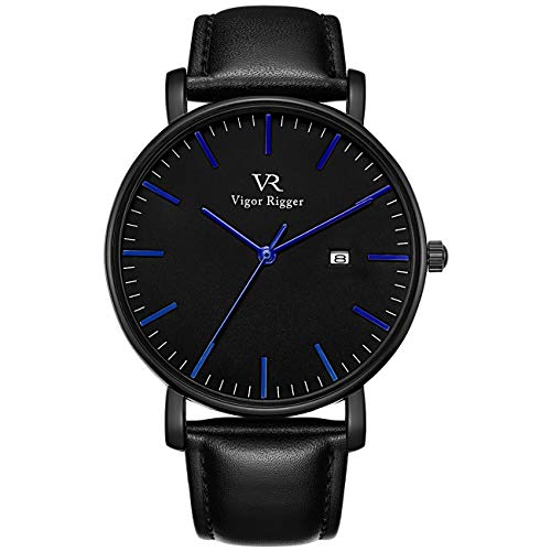 Vigor Rigger Mens Analog Quartz Watches Minimalist Ultra Thin Date Disply