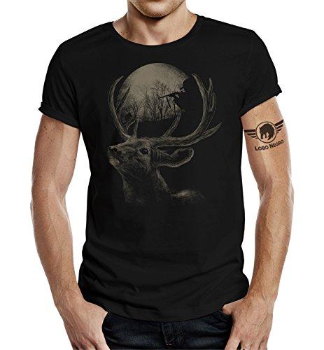 Camiseta de regalo para el cazador activo: en el pirata. Negro L