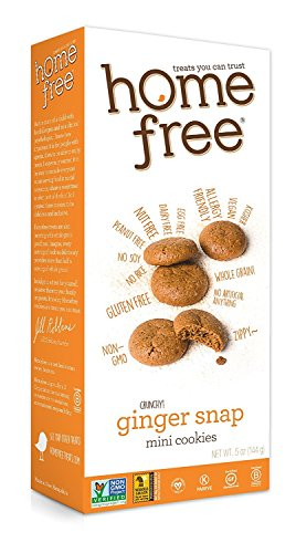 Homefree Treats You Can Trust Gluten Free Mini Cookies, Ginger Snaps, 5 Ounce, 6 Count