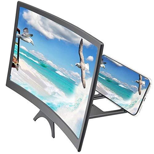 Tivivose 8/9 / 9,8/12-Zoll-Handy 3D-Screen Video Magnifier Bracket Desktop-Smartphone Film HD Verstärkungs-Projektor Ständer (Color : 12 inch)