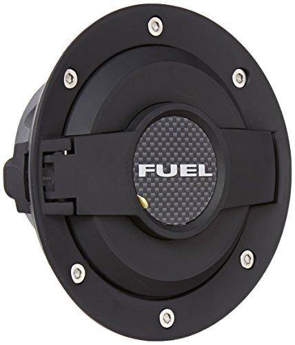 Drake Muscle Cars MO-210001-BLACK Billet Aluminum Fuel Door