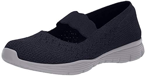 Skechers Women's Seager-Power Hitter Mary Janes, Blue (Navy Nvy), 3 UK (36 EU)