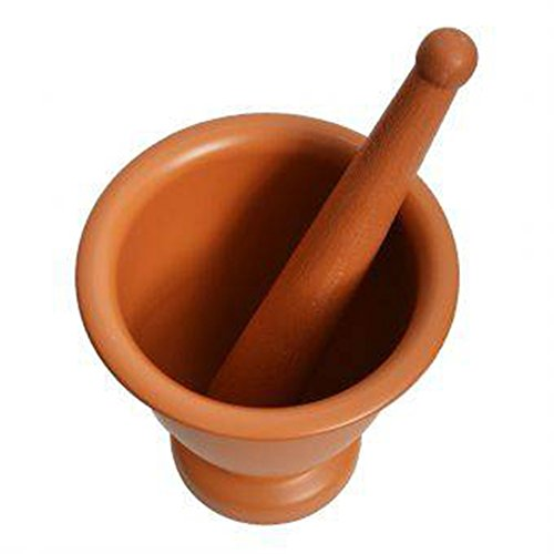 GoodGoodsThailand, Thai Mortar & Pestle Grinding Cookware Thai Food Menu Recipe Kitchen Tool Product of Thailand