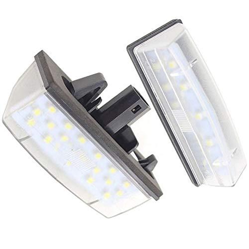 BOOMBOOST 2PCS 12V Car LED License Plate Lights SMD3528 LED Number Plate Lamp Bulb Kit for Toyota Prius ZVW30 Venza Matrix for Lexus CT200H