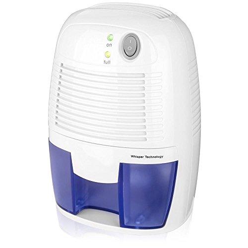 TIREOW Mini Elektro Luftentfeuchter Bautrockner Luftreiniger Trockenluft Feuchtigkeitsentferner 500ML Für Zuhause Büro Keller Wohnung Garage
