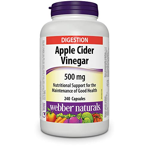 Webber Naturals Apple Cider Vinegar Capsules, 500mg