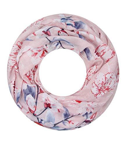 Majea super weicher Damen Loop Schal viele Farben Muster Schlauchschal Halstuch in aktuellen Trendfarben (rosa 33)