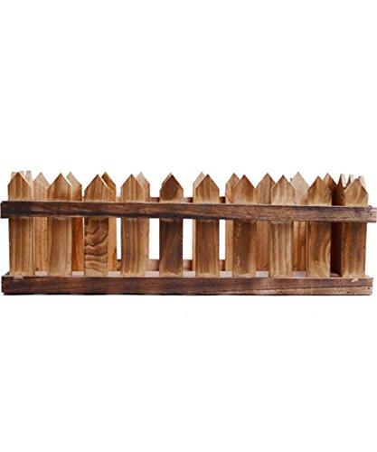 XYZ Rettangolare recinto di legno Vaso da fiori, piante Holder Fence delicato durevole ( dimensioni : 48*19*15.5cm )