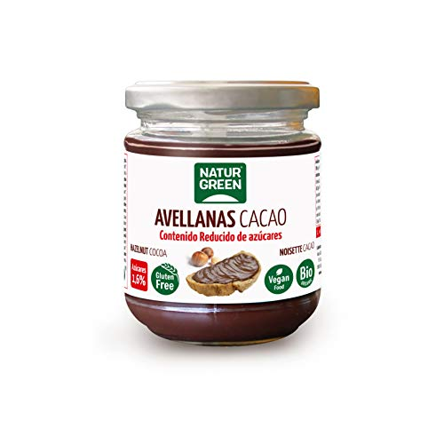 NATURGREEN Crema Avellanas Cacao Contenido Reducido de Azúcares, Multicolor, Estandar