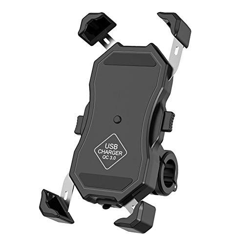 Succeedw bicicleta teléfono titular multifuncional 360 grados rotación teléfono móvil titular cargador USB carga bicicleta soporte