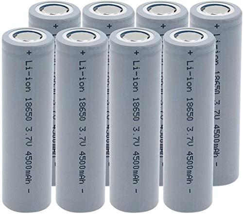 18650 batería de Iones de Litio 3,7 v 4500 mah baterías Recargables de Alta Corriente de Litio de Alta Descarga para Linterna-8 Piezas