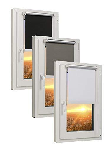 TEXMAXX - Reflect - Verdunklungsrollo Thermorollo Sichtschutz - 100 x 220 cm (Stoffbreite 96 cm) - Rollos für Fenster ohne Bohren inkl. Zubehör - in SCHWARZ