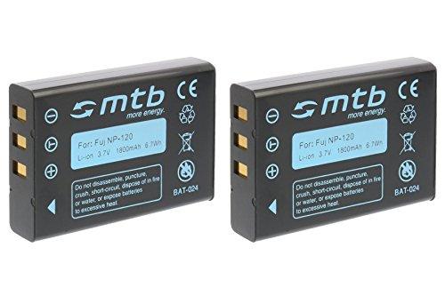 2X Baterías NP-120 para Fuji Fujifilm NP-120 para Fuji Finepix F10, F11, F630, M603