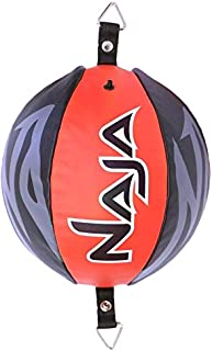 Naja Double End Ball Speed Bag Leather Boxing Ball Dodge Striking Punching MMA Training