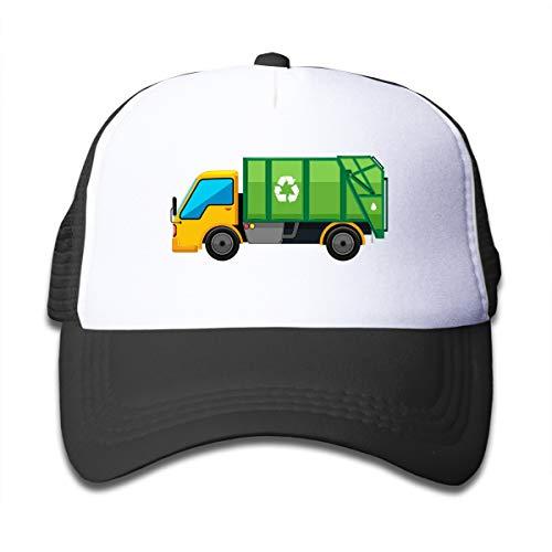 Waldeal Boys Cartoon Garbage Truck Sun Hat Baseball Caps Adjustable Trash Man Costume Kids Trucker Caps