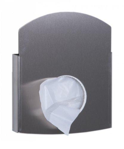 All Care 13062 Dutch Bins Porte-sac hygiénique en acier inoxydable Blanc Sacs en plastique et sacs en papier