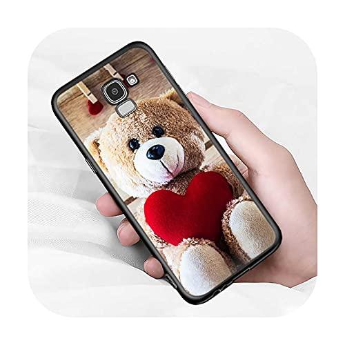Lindo oso animal para Samsung Galaxy J2 J3 J4 Core J5 J6 J7 J8 Prime duo Plus 2018 2017 2016 suave negro cubierta del teléfono estilo 11-para J5 2016