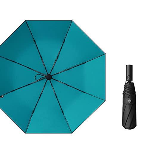 EAN Paraguas Plegable Automático Paraguas De Sombrillas con Sombrilla Y Resistente A Prueba De Lluvia De Doble Uso Simple De Doble Capa Simple Automática(Size:automático,Color:A)