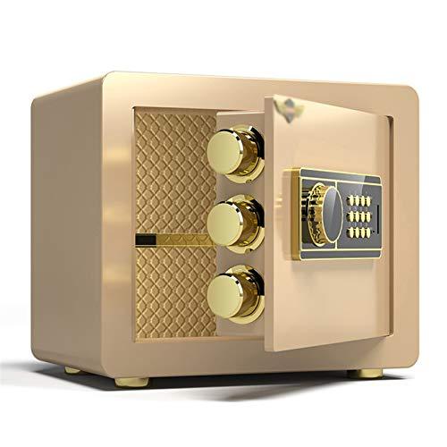 WSMLA Caja fuerte de la pared Lectronic Home Safe Home Small Safe Safeting Huella dactilar Contraseña 25 cm Caja de seguridad All Steel Anti-Pyn Pige Security Box Gabinete Cajas fuertes