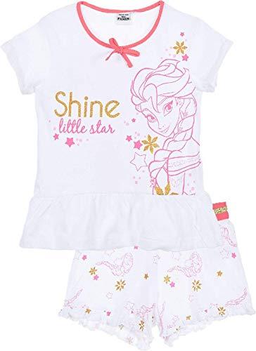 Disney Pigiama Bambina Frozen T-Shirt e Pantaloncino in Cotone Stampato 1845