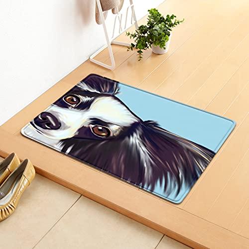 NHhuai Artificial Alfombra para salón Dormitorio baño sofá Silla cojín Alfombra Antideslizante con patrón de Perro de Dibujos Animados