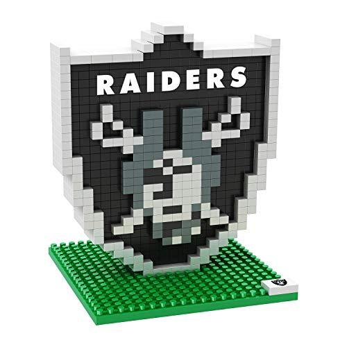 Oakland Raiders Logo 3D BRXLZ Building Set (428 Piece)