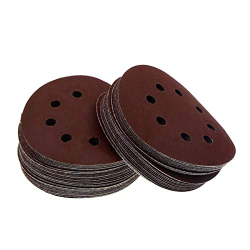 YXQ 2000Grit Sanding Discs-60Pcs 5 inch 8 Hole Flocking Abrasive Hook and Loop Sandpaper Aluminum Oxide Sander Paper