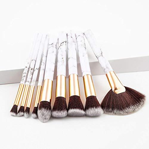 WYL Pinceaux de Maquillage Set Brosse à Sourcils Cosmétiques Poudre Fard à paupières Brosses de mélange Outils de Maquillage, 9pcs-Gris Blanc