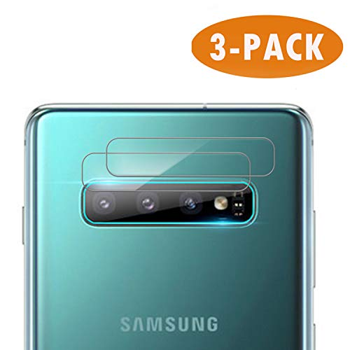 Hotbon Protezione dell'obiettivo della Fotocamera Samsung Galaxy S10 Plus, Pellicola Protettiva in Vetro temperato 3PCS per Samsung Galaxy S10 Plus Posteriore [Chiaro]