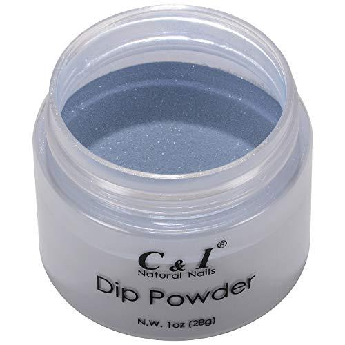 C & I Dipping Powder plongée Powder couleur N ° 034 Steel Bleu Système de Blue Couleur