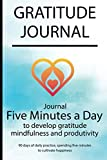 Gratitude journal: Journal 5 minutes a day to develop gratitude, mindfulness and productivity By Simple Love 14341
