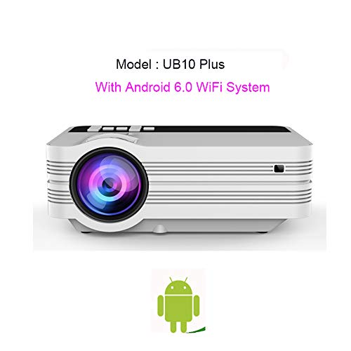 Great Price! YiLuFanHua Video Projector, Wireless HD Projector with Support Speech Recognition Porta...