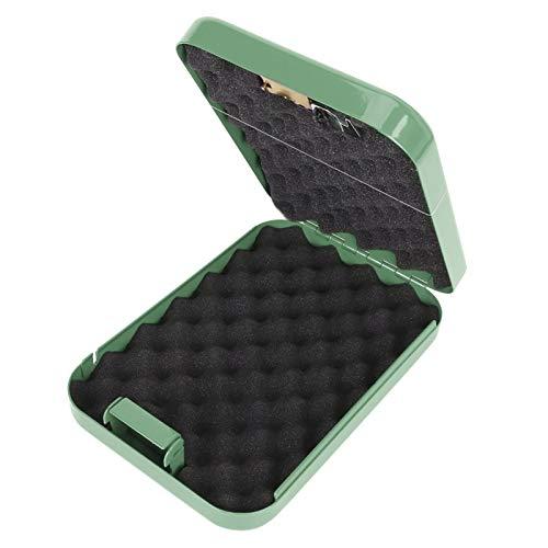 Fockety Caja de Almacenamiento, Soporte de Almacenamiento de Seguridad portátil antirrobo Caja de Almacenamiento sin Llave Caja de Seguridad, Hojas de Acero laminadas en frío para(Green)