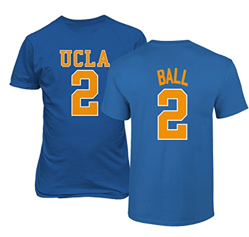 KINGS SPORTS UCLA 2017 Bruins Lonzo Ball 2 College Basketball Men's T Shirt (Royal,M)