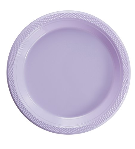 'LAVENDER 9'' PLASTIC PLATES 50 COUNT'