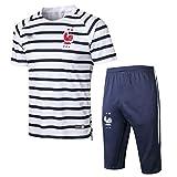 QJY Jersey de fútbol francés Adulto de Manga Corta Sportswear Traje Equipo de Entrenamiento Traje de Verano Deportes de Verano Ropa de Secado rápido (Size : M)