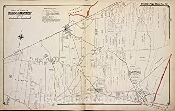 Historic 1915 Map - Part of Town of Brookhaven - Suffolk County (N.Y.Atlas of Suffolk County, Long Island, New York - Vintage Wall Art - 69in x 44in