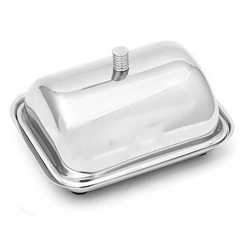 King International Stainless Steel Butter Dish/Pot, Silver