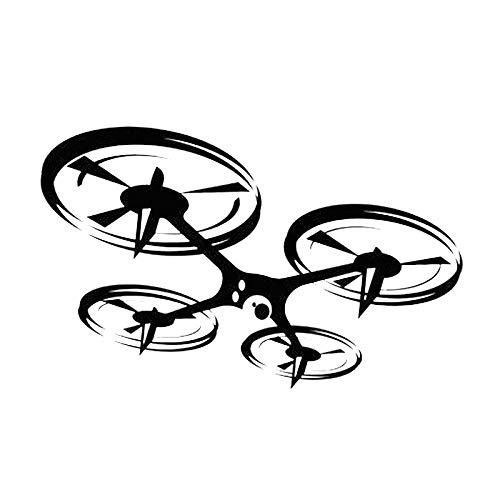 Opprxg Etiqueta engomada de la Pared del Vinilo del Drone para la decoración de la habitación del niño Etiqueta del Mural de la Etiqueta del Drone 110x69cm