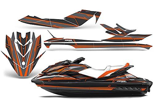 AMR Racing Jet Ski Graphics kit Sticker Decal Compatible with Sea-Doo GTI SE130 2011-2019 - Shocker Orange