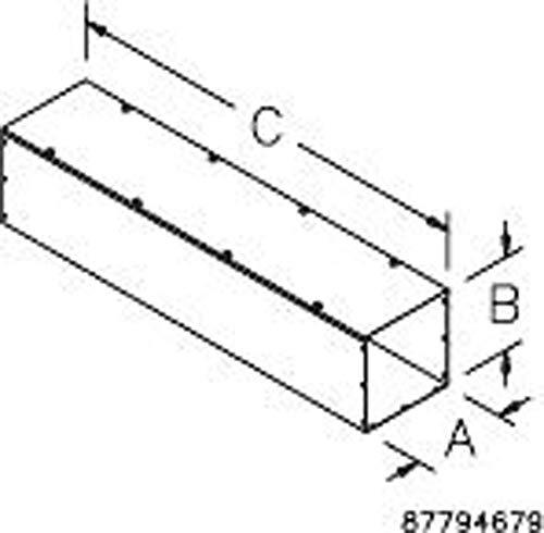 "Hoffman F44T136GVPWK Wireway, Straight Section with Knockouts, Flat Cover, NEMA 1, Galvanized, 4.00"" x 4.00"" x 36.00"", Gray"