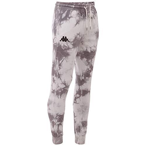 Kappa Batik Ivano - Pantalones de chándal para hombre con un moderno aspecto batik I Pantalones largos de entrenamiento de algodón acogedor I para ocio, deporte y fitness, tallas XS-2XL Blanco M