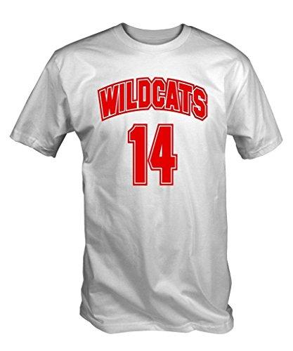 6 TEE NINERS Gatti Selvatici 14 T-Shirt (Bianco S - XXL) - S, Small