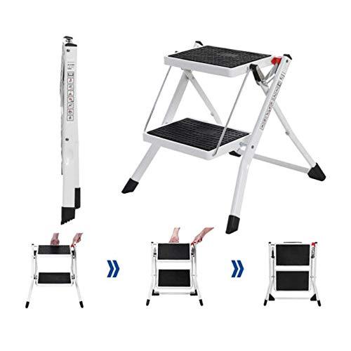 Trittleiter 2 Stufen Mini Leiter Klapptritt Klappleiter Klapptreppe Tritt Haushaltstritt Stehleiter Sprossenleiter klappbar faltbar bis 150 kg