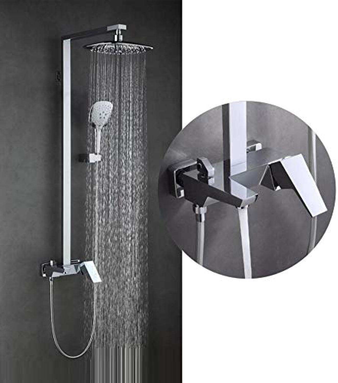 LWUDI Duschsystem Duscharmatur Regendusche, alle Bronze nehmen eine Dusche Set, Multifunktions-Dusche Duschkpfe, Hochdruck-Dusche Handheld